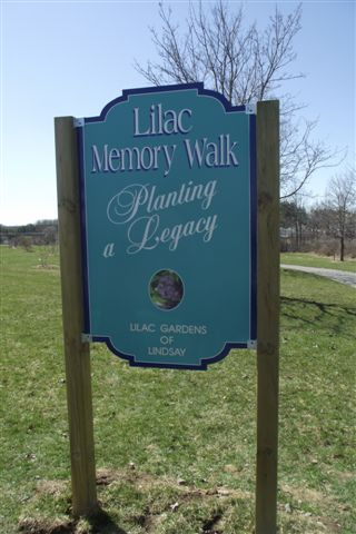 New Memory Walk sign